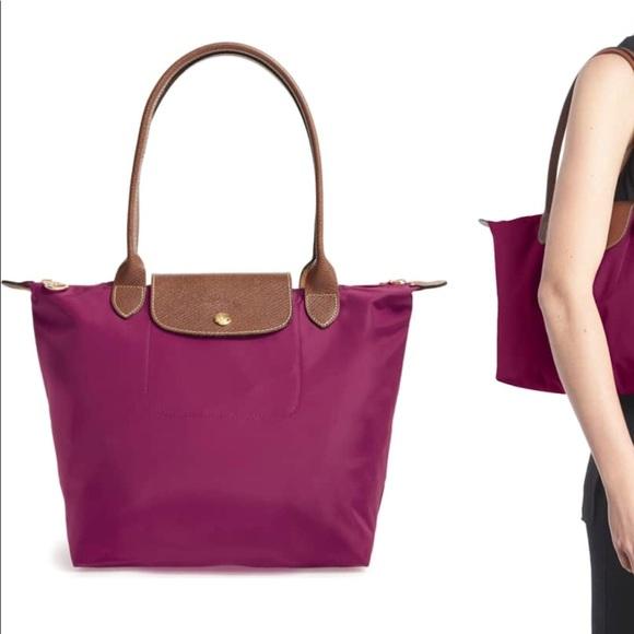 Longchamp Handbags - Longchamp Small Le Pliage Tote in Dahlia 088109f7334de